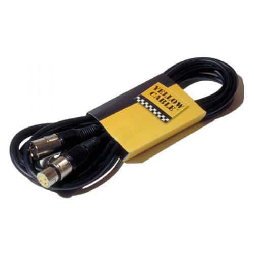 Câble noir et jaune