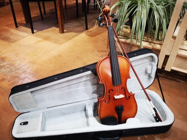 violon avec étui