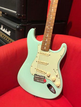 guitare vert bleue