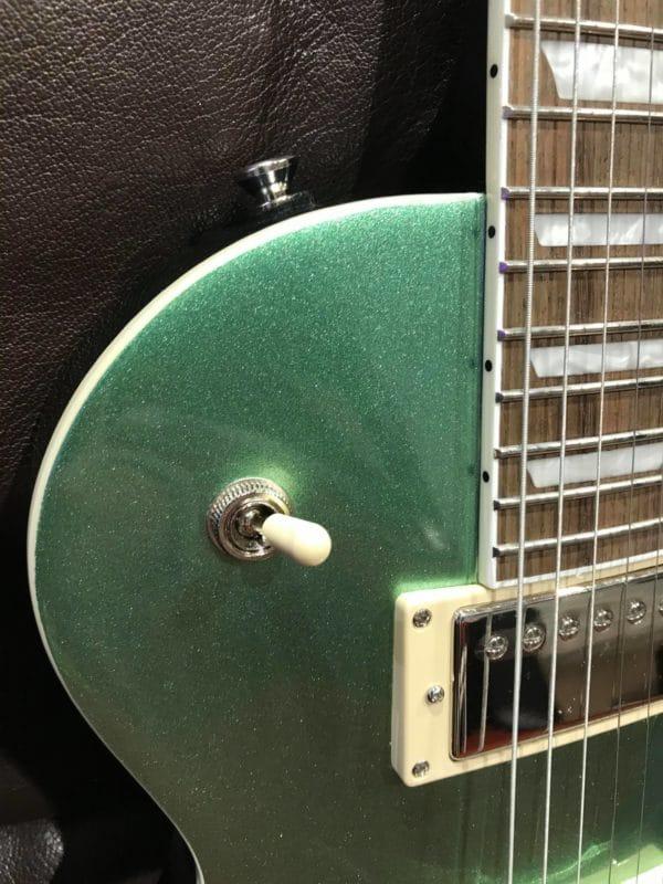 bouton de guitare électrique verte