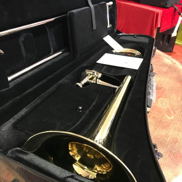 Trombone dans étui noir