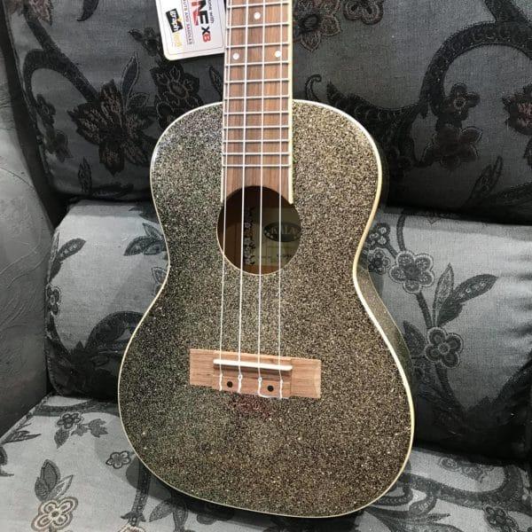 guitare KALA paillette dorée
