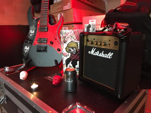 guitare rouge ampli noir