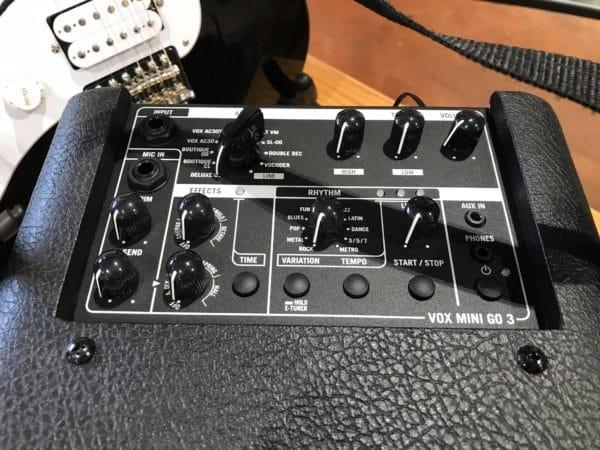 boutons ampli guitare